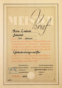 HeinzLimbach_Meisterbrief
